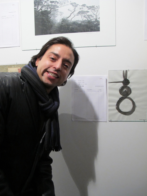 Jamie Martinez at the Munch Gallery benefit for Japan