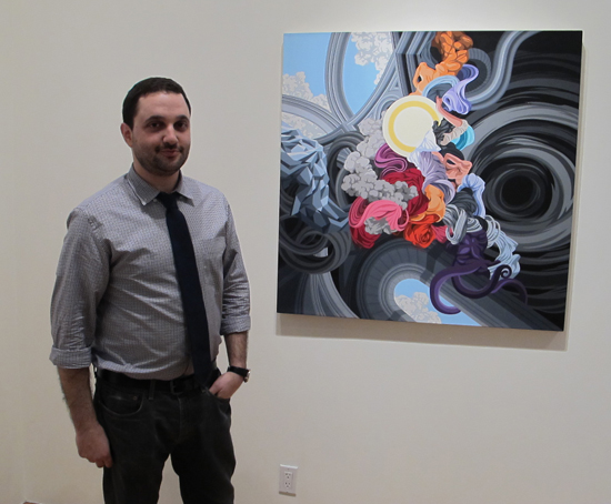 Joshua Liner at his Gallery for the opening of James Roper