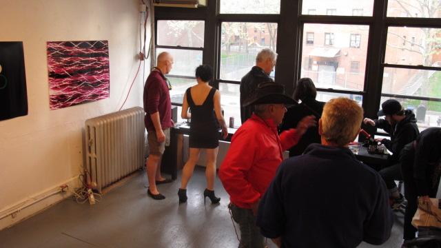 Kristen Gambel's art opening at NAAS