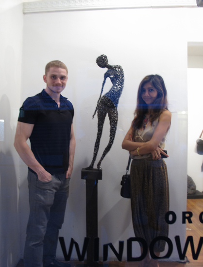 Andrei and Liquica collecting art at Orchard Windows Gallery