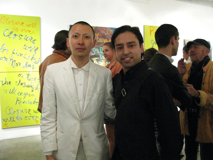 Jamie Martinez and Terence Koh at Rene Ricards opening