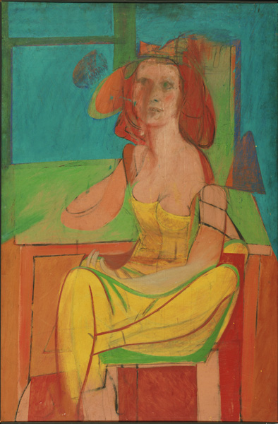 Seated Woman by De Kooning