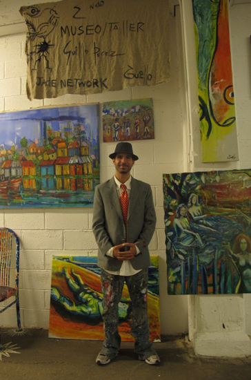 Guillermo Perez at The Three day art bash in Art Rev Studios in Chelsea