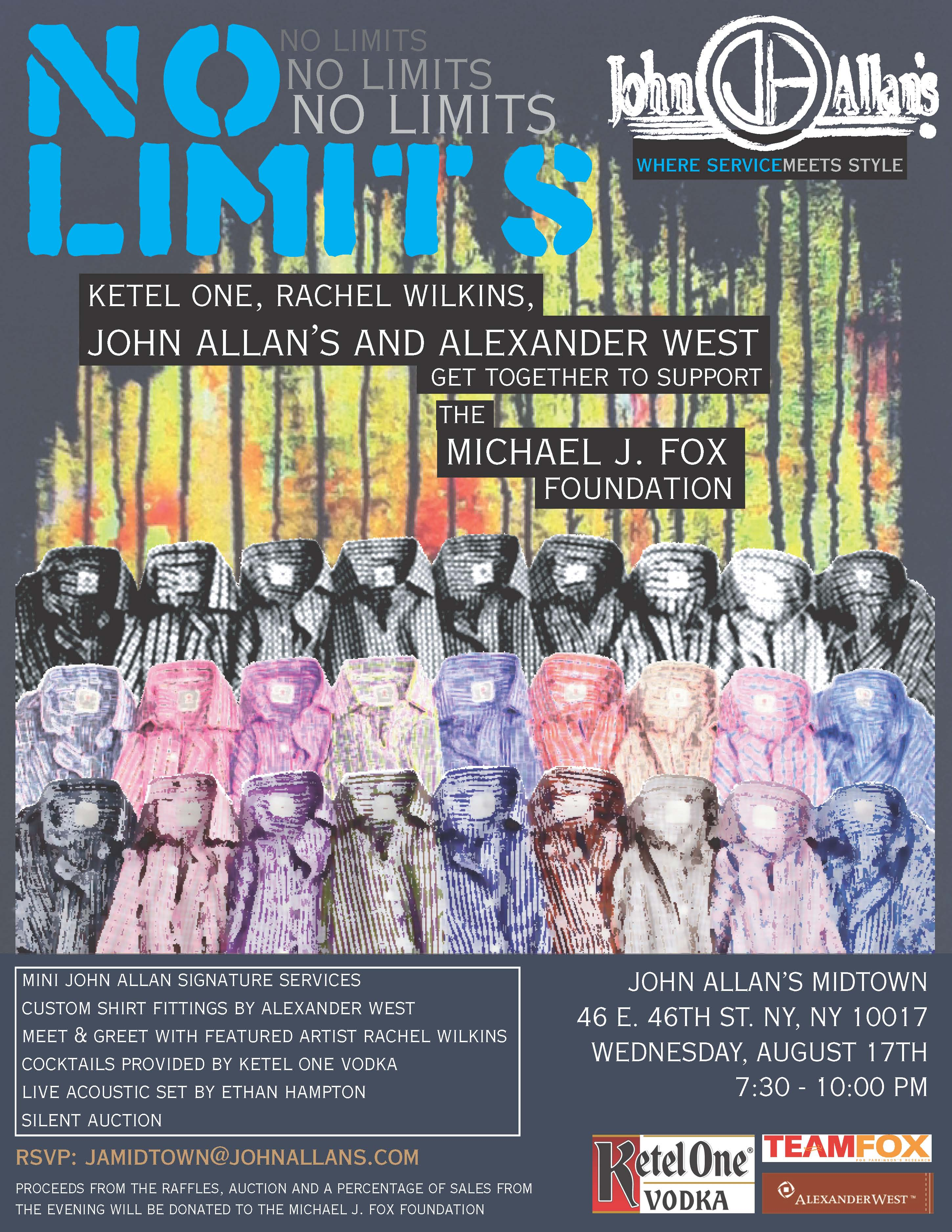 """NO LIMITS"" solo art show opening for RACHEL WILKINS at John Allans Midtown"