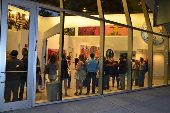 Opening for Milavec Hakimi Gallery Hello World! held at 41 Cooper Square, NYC, September 15th