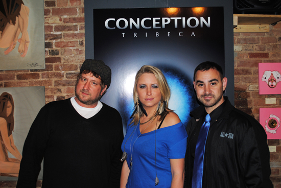 Jonnathan Fritz, Rachel Wilkins, and Mike Wolf at Conception