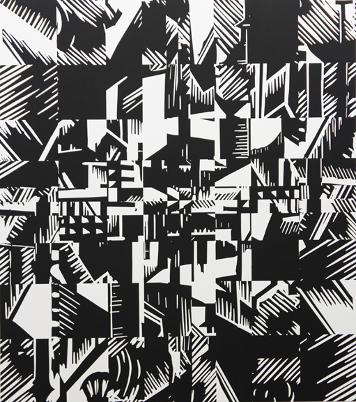 Townscape 1, 2011  60 x 53 in / 152.4 x 134.6 cm, acrylic on linen