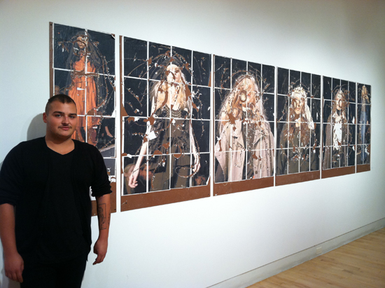 Zach Delacruz at the SVA group show