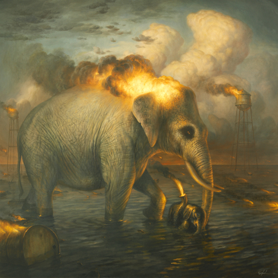 The passions baptism by Martin Wittfooth