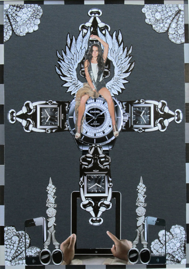 Luis Alves Collage Lindsay Jesus 24x36