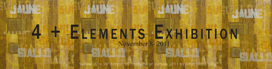 "The group exhibition ""4 + Elements"" at the Prince George Gallery"