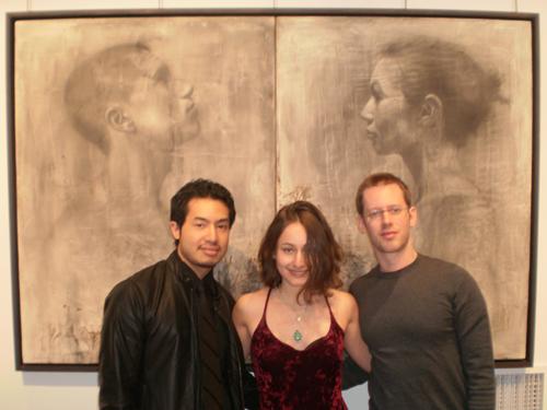 The Curators: (l-r) Tun Myaing, Dina Brodsky, & Karl Koett