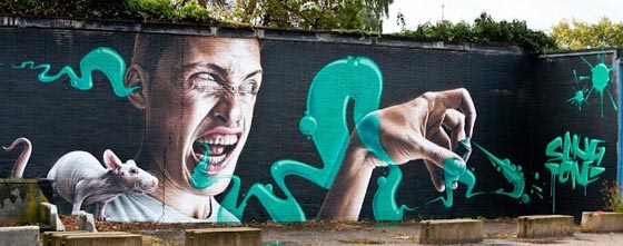 SNIK MURAL IN LONDON, UK