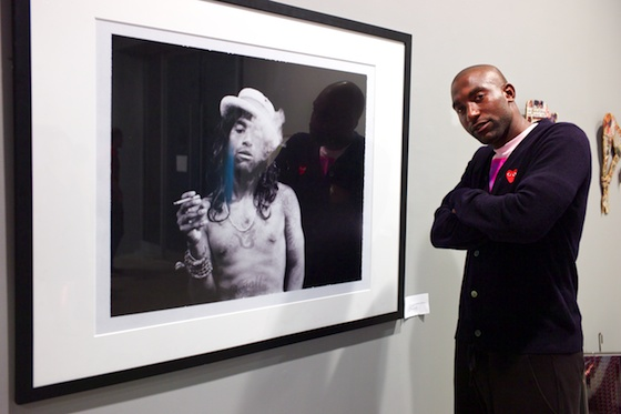 Curator of the show Derrick B. Harden