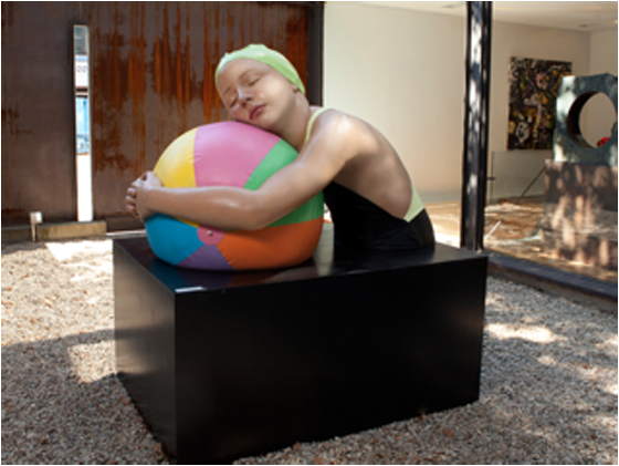 Monumental Brooke with Beach Ball by Carole A. Feuerman