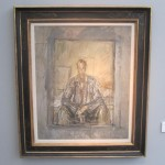 """Alberto GIACOMETTI """"Portrait of the Artist's Brother DIego"""" 1948 oil on canvas 29 x 24 inches at Thomas Gibson Fine Art Unlimited"""