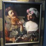 "Pseudo CAROSELLI ""Allegory"" circa 1625 oil on panel 32 x 29 inches  €600,000 at Galería Caylus"