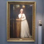 """eorge ROMNEY """"Portrait of Anne, Marchioness Townshend"""" 1794  oil on canvas  88 x 59 inches  $625,000 at Richard L. Fiegen & Co."""