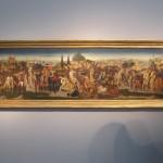 """Domenico DI ZANOBI (Maestro della Natività Johnson) """"Cassone with Scenes of a Battle"""" circa 1445 - 1481 tempura on panel 18 x 63 inches  €1,100,000  at Moretti Fine Art"""