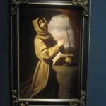 "Francisco DE ZURBARÁN ""Saint Francis in Prayer"" circa 1650 oil on canvas 62 x 40 inches  €900,000 at Galería Caylus"