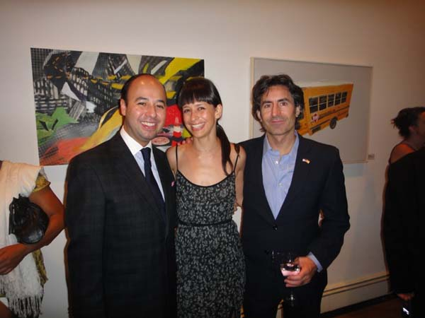 Juan Gabarron (far right) with some guests at the opening