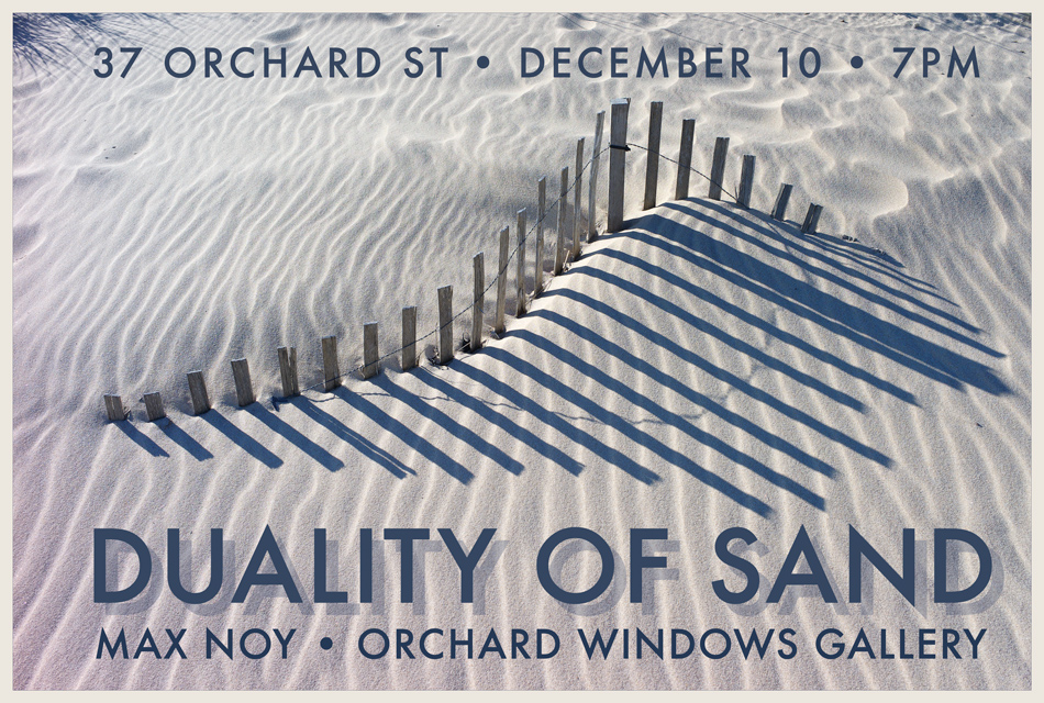 Orchard Windows Gallery hosts Duality of Sand, a Solo Exhibition by Max Noy