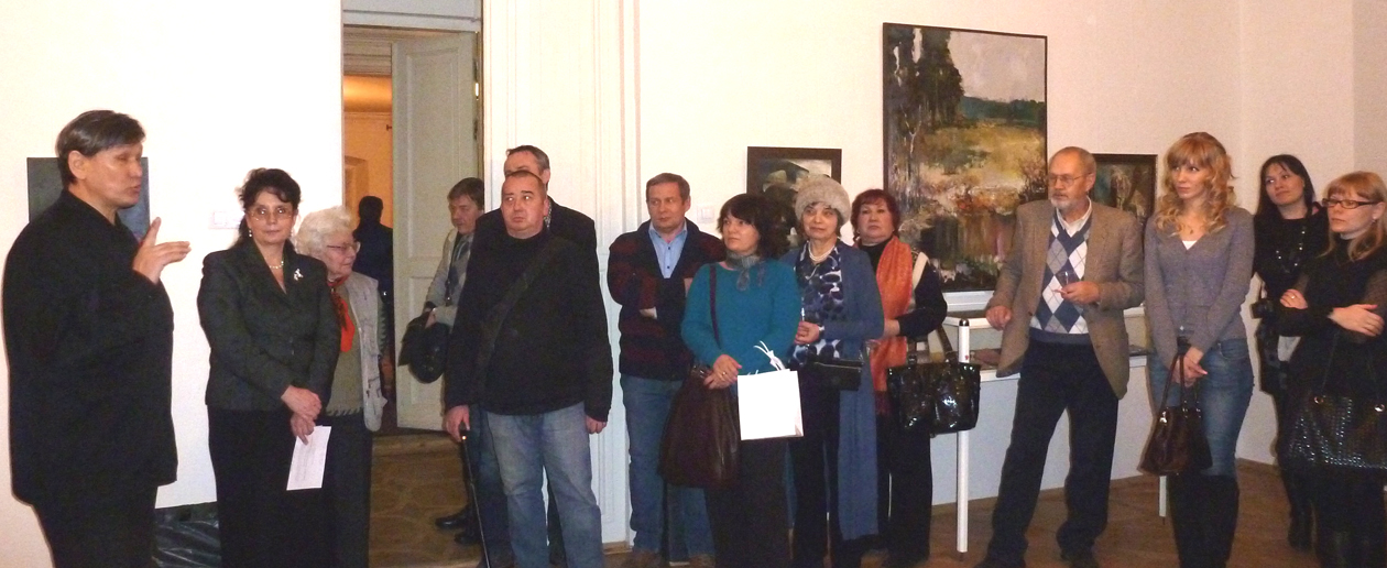 Opening of American Visual Art at the Marina Tsvetaeva Museum in Moscow