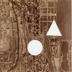 A Square of Chicago Without a Circle and Triangle (1979) by Sol Lewitt