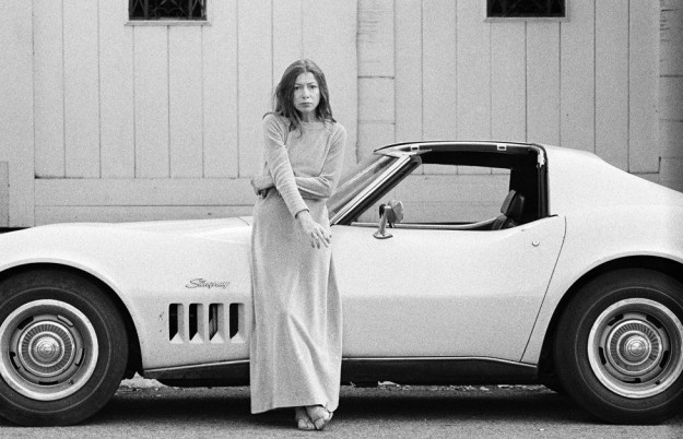 Author Joan Didion and Her Chevrolet Corvette Stingray in Hollwyood (1972-2012) by Julian Wasser