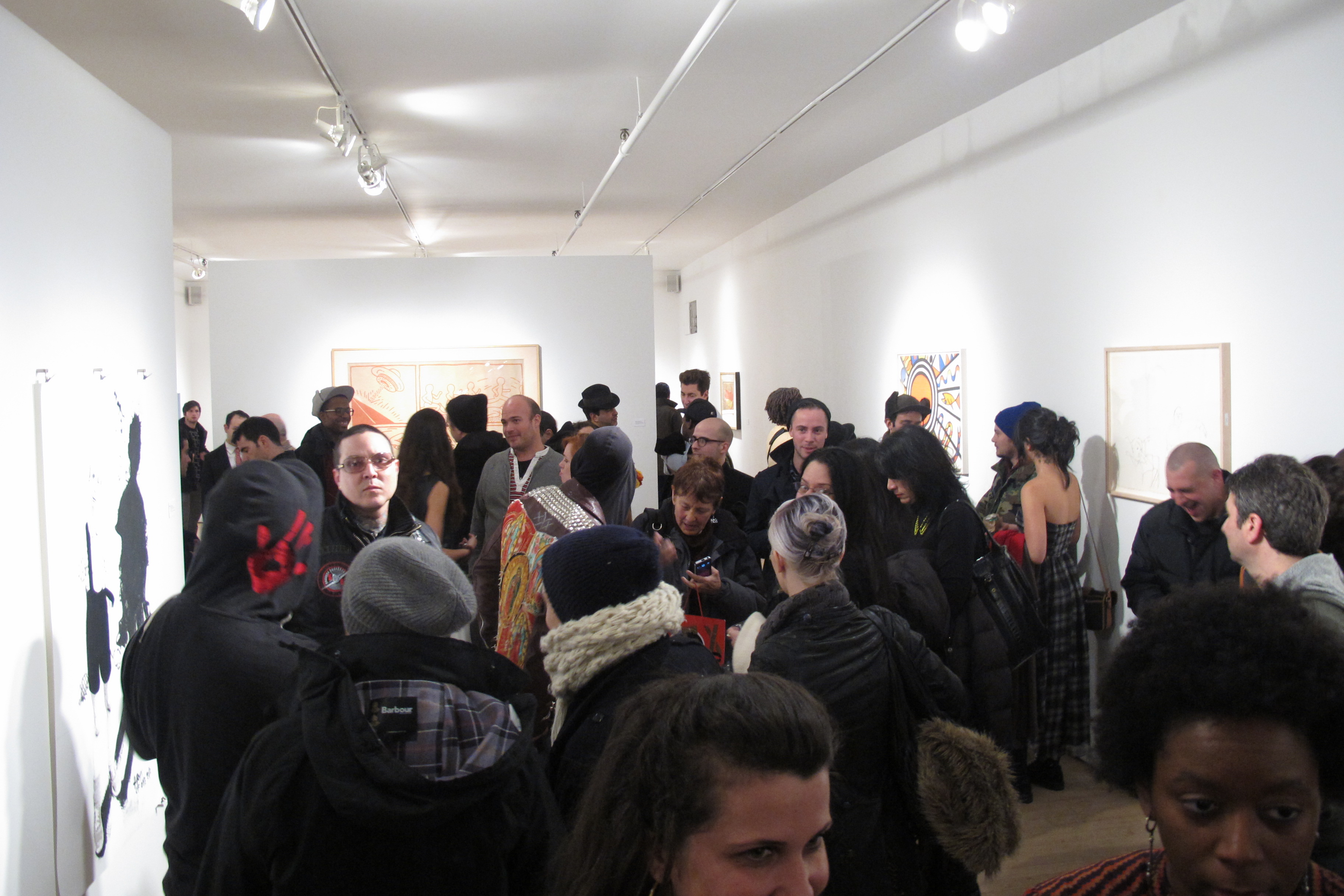 "Opening for ""Print"" at Woodward Gallery"