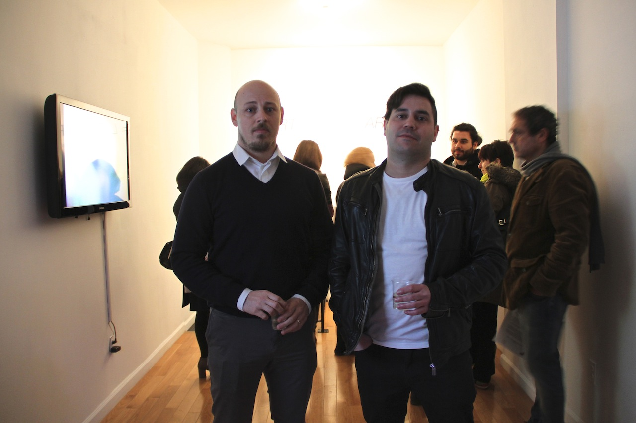 (L-R) Alex Slonevsky (Director) & Andre Escarameia (Curator) of Rooster Gallery