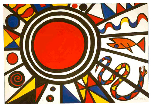Alexander Calder; Environment and Evolution – Creation, 1973; Screenprint on paper 26.37 x 38.5 inches; 67 x 97.8 cm; Edition of 125