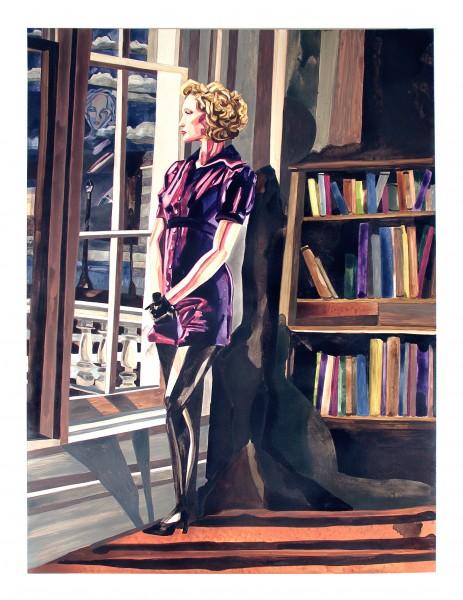 """Galina 40"""" x 30"""" watercolor"""