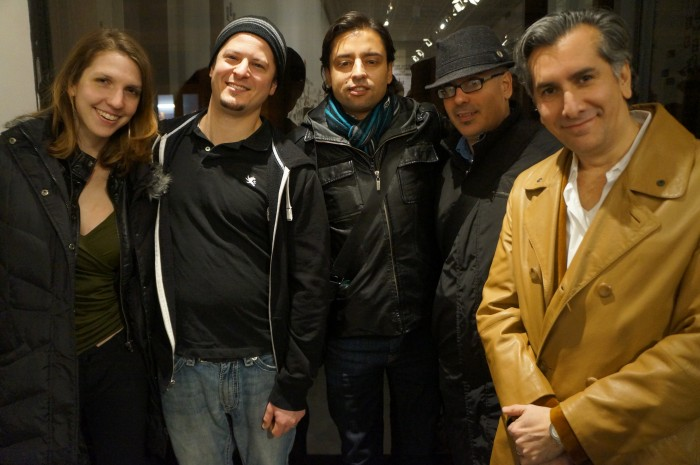 (L-R) Artist Colleen Blackard,  Artist  James Giardina, Artist Jamie Martinez, Artist Erick Sanchez, Artist Vincent Zambrano