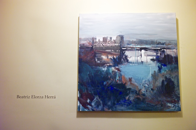 Paintings by Beatriz Elorza curated by Jose Vidal at St Mary the Virgin Church
