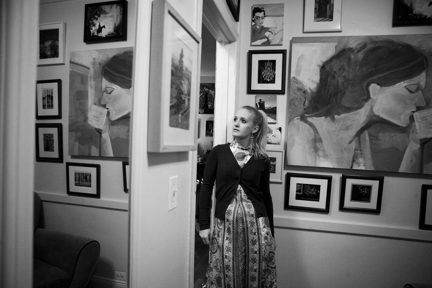 Annika Connor in her studio by Stephen Churchill Downes