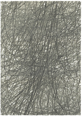 Untitled (7 Layers) 2013  22 x 16 inches (56 x 41 cm) Graphite on paper, hand-cut