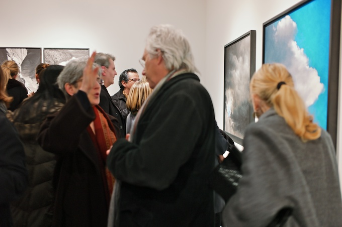 Art Lovers Crowd at Julie Saul Gallery