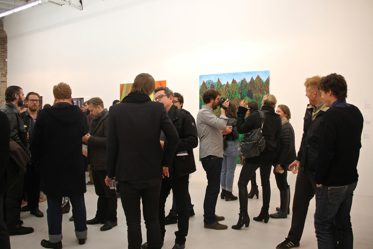 Art Lovers View the Figurative Paintings that Night