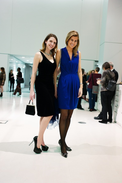 Artists Colleen Blackard (L) and Beatriz Elorza (R) attendees at the opening for nAscent Art at Haworth