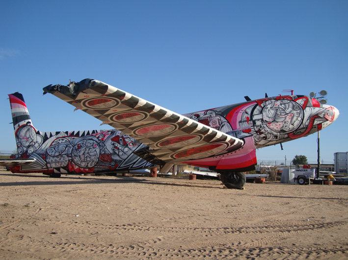 (photo of plane) Title: Time Flies Tucson, Arizona (Boneyard Project) 2011