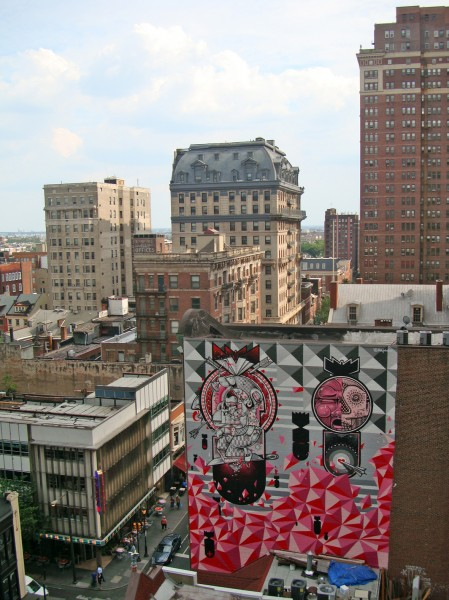 (large mural on building) Title: Personal Melody Philadelphia, PA 2012