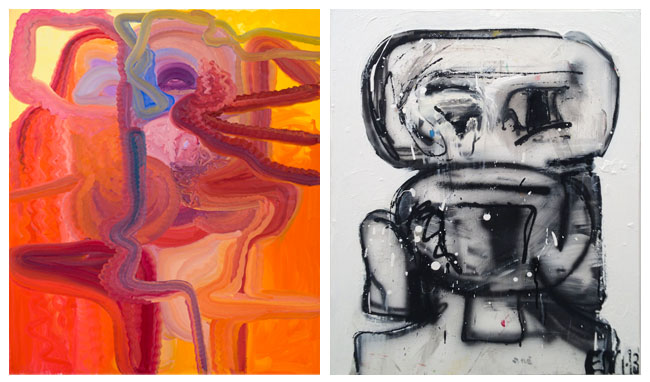 (L) Art by Bjarne Melgaard (R) Art by Eddie Martinez