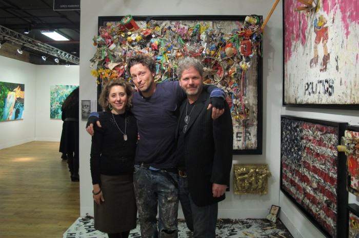 (L-R) Deanne Shahoua, Artist Greg Haberny and Michael Lyons Wier at Volta NY