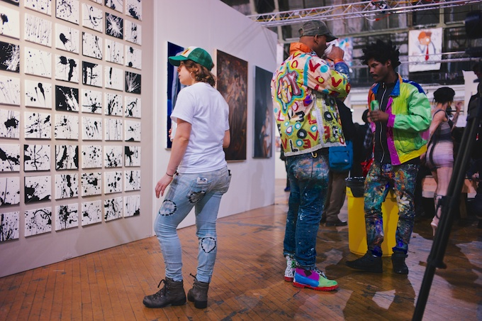 The wearable ART is just as good as what's on the wall