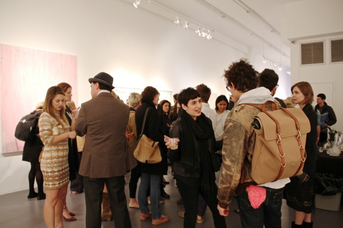 A variety of art lovers at Charles Bank Gallery on the Bowery