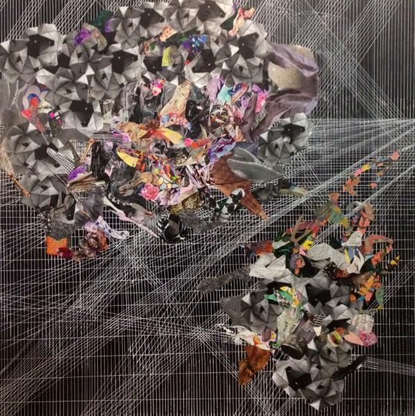 Forward space (2013) 70x70 inches by Rodolfo Edwards