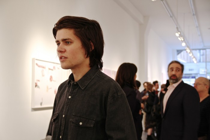Garrett Pruter at Charles Bank Gallery for his opening