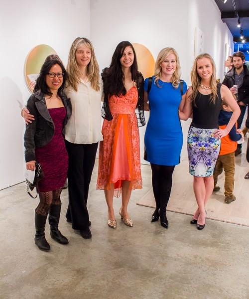 Girl Power (L-R) Artists Cynthia Lin, Gwen Hardie, Diana Schmertz, gallerists Mary Garis & Sophie Hahn