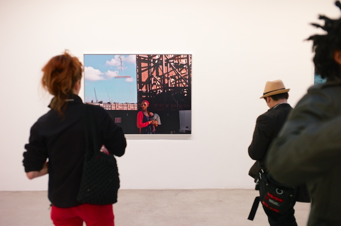 Second Floor at Tanya Bonakdar Gallery featuring Hannah Starkey (photo by Max Noy)